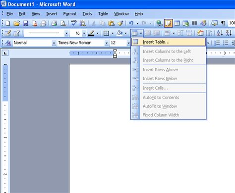 insert table in microsoft word 2003 microsoft office support