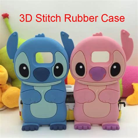 Samsung Note 5 Stitch 3d Karakter Silicone Casing T1310 1 2016 3d stitch soft silicone rubber cover for samsung galaxy s6 edge s5 s4 s3