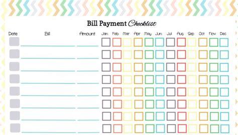 heres   bill payment checklist  organize  bill