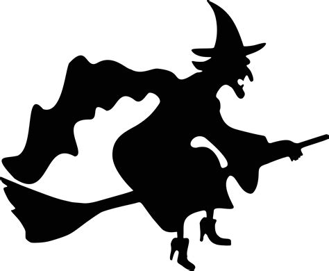 silhouette templates witch flying silhouette free vector clipart