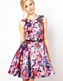 Floral Prom Dresses Painted Floral Dress Fashion In Prom