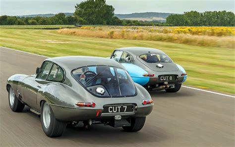 type in reunited protheroe s jaguar e types cut 7 and 8 racers drive