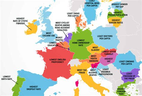 europe map all countries map of european country