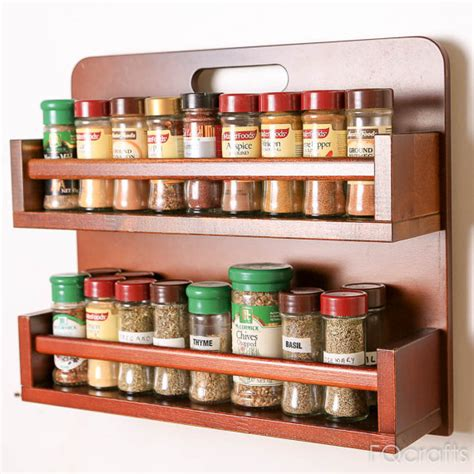 wooden spice rack two shelves fits 36 regular herb by fqcrafts