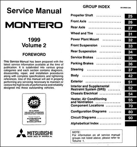 car repair manuals download 1999 mitsubishi montero sport auto manual 1999 mitsubishi montero repair shop manual set original