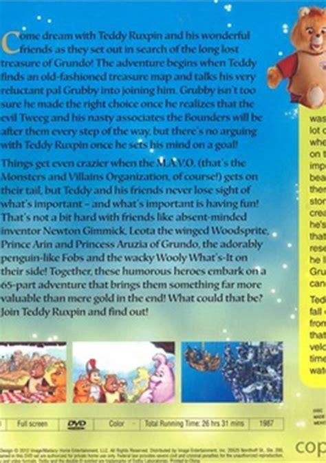 teddy ruxpin grundo map adventures of teddy ruxpin dvd 1987 dvd empire