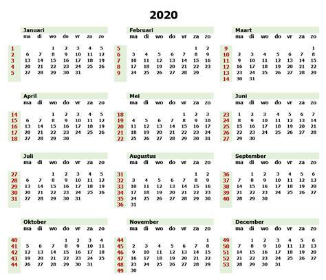 jaarkalender   met weeknummers  calendar  template