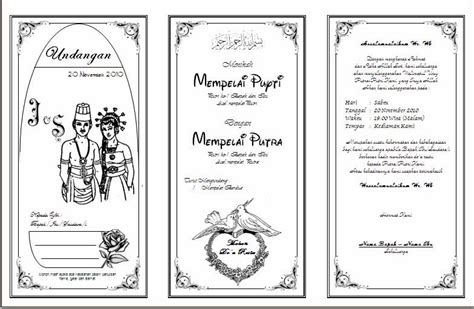 template undangan nikah doc download contoh undangan format ms word download gratis