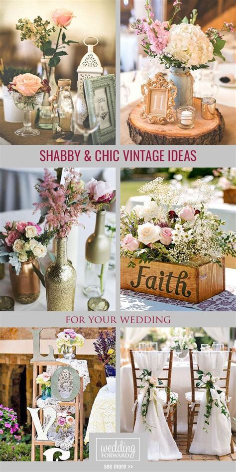 Shabby & Chic Vintage Wedding Decor Ideas   Wedding   Tips