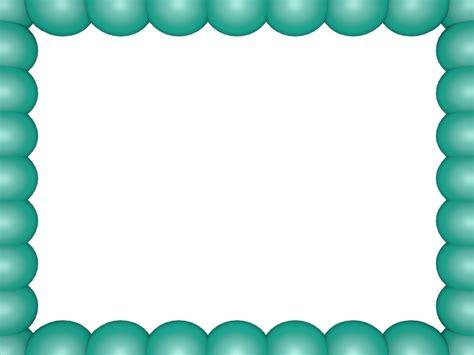 Aqua Bubbly Pearls Rectangular Powerpoint Border 3d Borders Free Powerpoint Borders