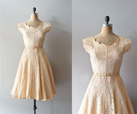 1950s Dress 50s Lace Dress Wedding Dress Alamondine | 1950s dress 50s lace dress wedding dress alamondine