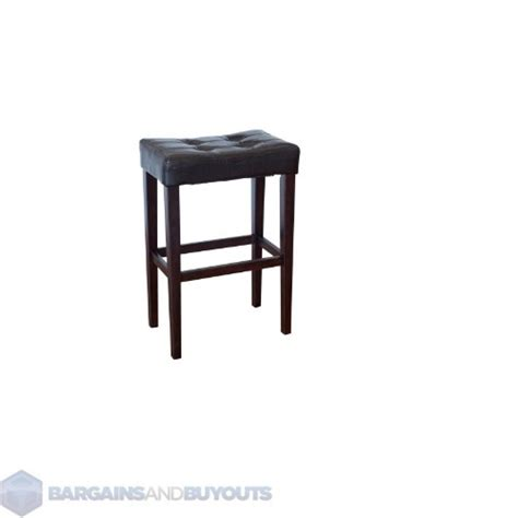 26 Inch Saddle Bar Stools leather armless palazzo 26 inch saddle bar stool brown ebay