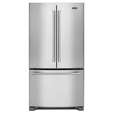 maytag 36 in w 25 2 cu ft door refrigerator in