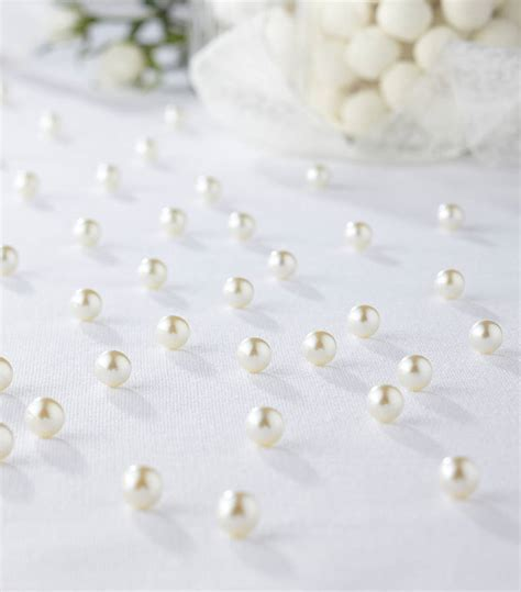 ivory table pearls confetti wedding decor by ginger ray