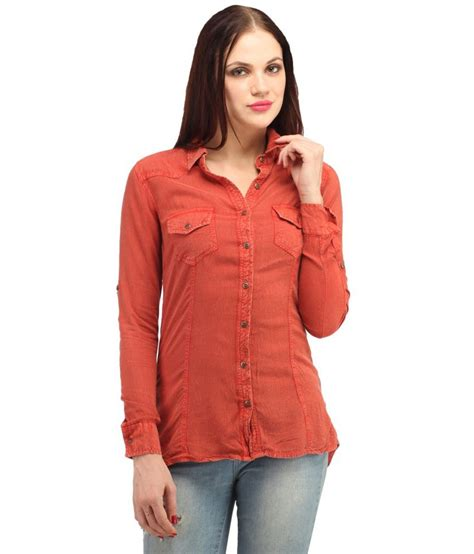 2644 Blouse Rayon F8 buy lo orange rayon shirts at best prices in india snapdeal