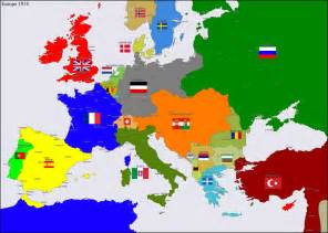 Map Europe 1914 by Europe 1914 Map Alliances Europe 1914 By Hillfighter