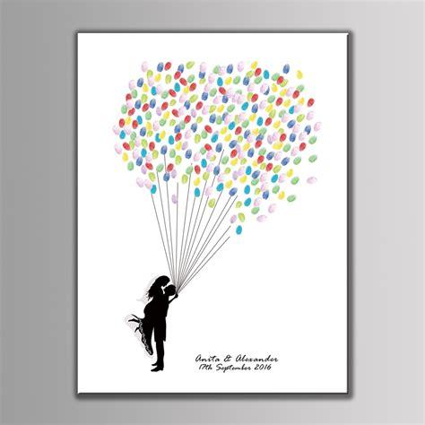 Hochzeit Fingerabdruck by Wedding Fingerprint Tree Air Balloon Signature Guest