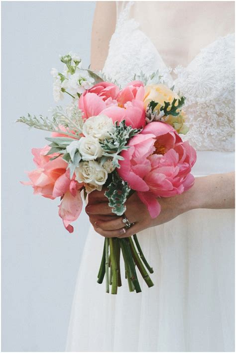 With Bouquet by Beautiful Peony Wedding Bouquets Always Andri Wedding Design