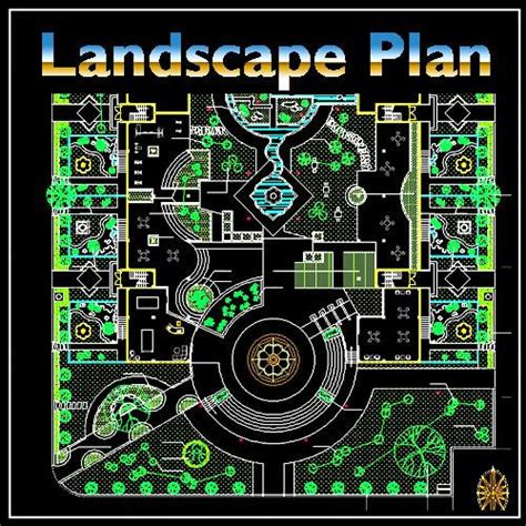 landscape layout cad residential landscape design 17 cad design download