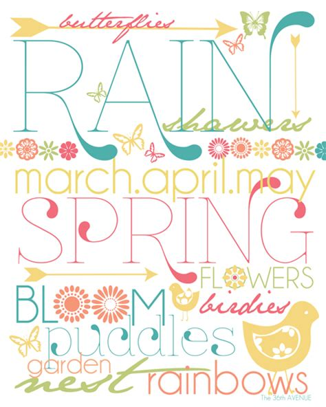 Printable Spring Images | free spring printables the 36th avenue