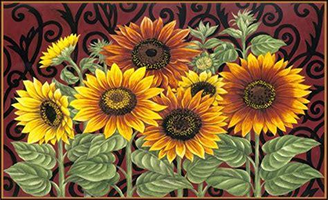 sunflower rugs kitchen home decor