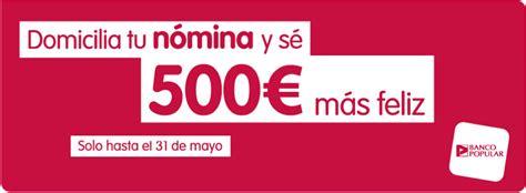 cuenta del banco popular cuenta n 243 mina del banco popular ll 233 vate hasta 500 euros