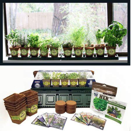 windowsill herb garden kit complete herb garden kit