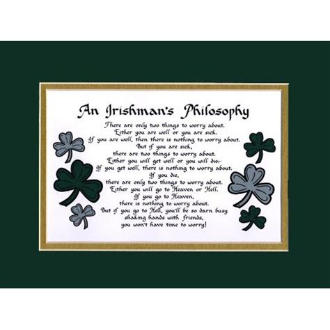 home decor wall plaques amazon com irishman s philosophy irish saying home decor