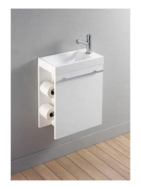 lave mains avec meuble design blanc et