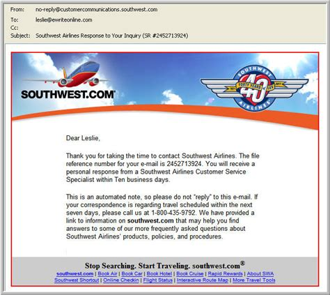 southwest airlines baggage policy a customer service e mail from southwest is about to kill