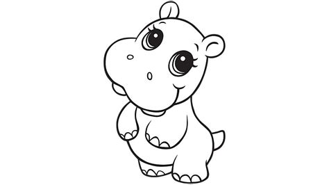 learning friends hippo coloring printable