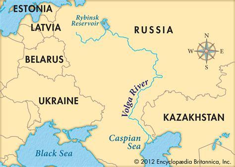 russia map river volga river russia map