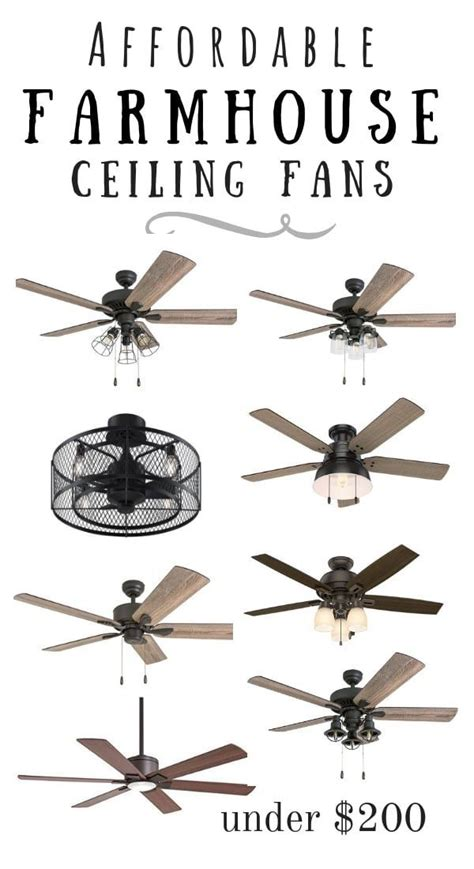 affordable modern farmhouse ceiling fans farmhouse