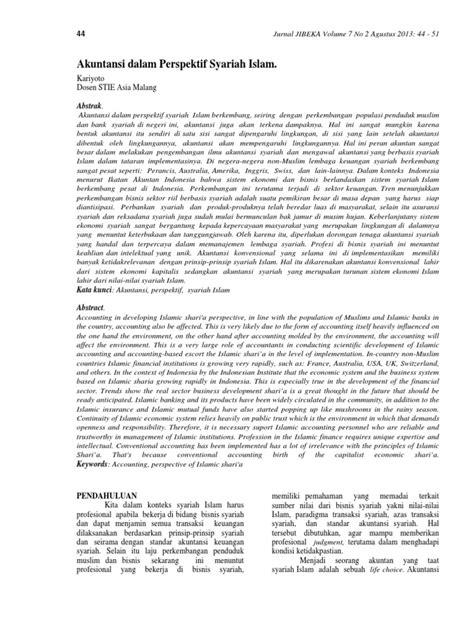 tesis akuntansi syariah pdf kariyoto akuntansi dalam perspektif syariah islam pdf