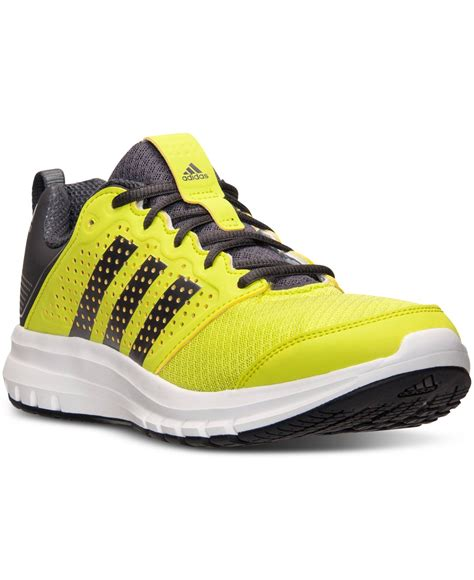 lyst adidas s maduro running sneakers from finish line in yellow for