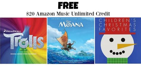 amazon mp3 downloads coupon free 20 unlimited credit w cd or vinyl purchase trolls cd deal