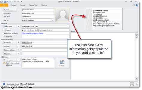 how to make v card how to create a business card signature in outlook 2010