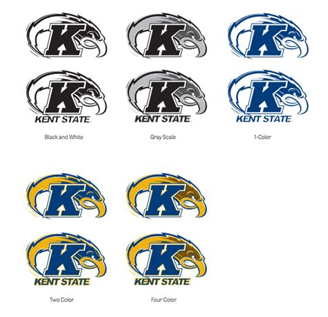 kent state colors the kent state intercollegiate athletics logo