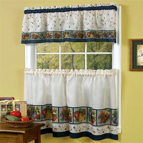 Curtains For Small Kitchen Windows Kitchen Window Curtains Blue