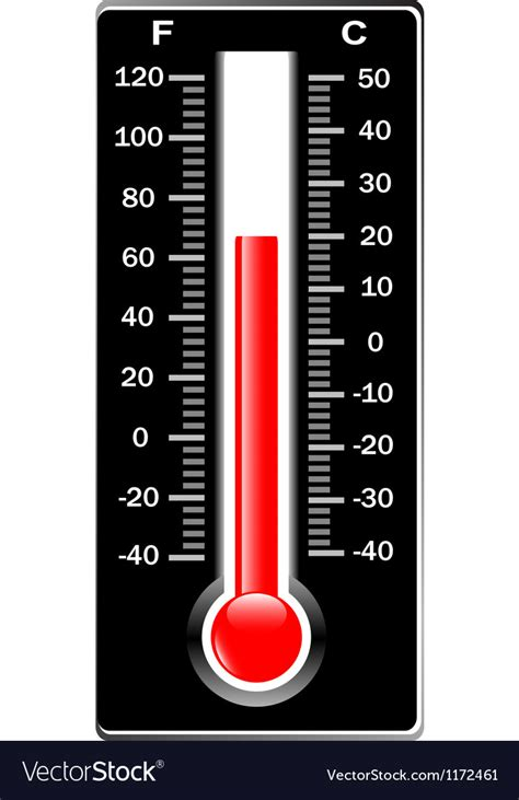 Termometer Celcius thermometer celsius and fahrenheit royalty free vector image