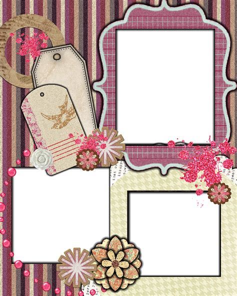 Sweetly Scrapped Free Scrapbook Layout Template Scrapbook Free Templates