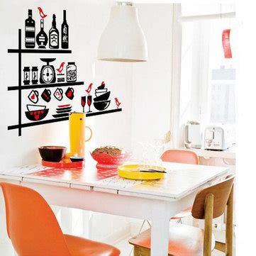 Wall Sticker Transparan Kitchen Tools Ay6017 Tableware Wall Sticker Kitchen Utensils Removable Wall Stickers Us 4 70 Sold Out
