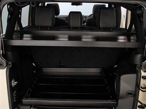 jeep wrangler 4 door interior jeep wrangler jku 4 door cargo storage interior rack by