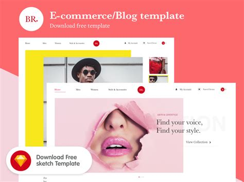 free ecommerce blog template free design resources