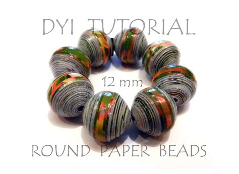 How To Make Paper Bead - diy tutorial how to make paper medium size 12mm
