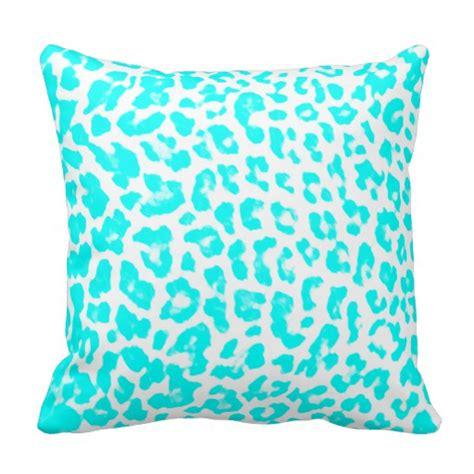 Lite Pillows by Lite Blue Leopard Print Pillow Zazzle