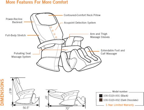 1299 Ht 5320 Human Touch Robotic Home Massage Chair Sale