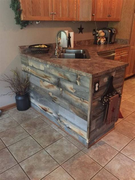 Rustic Kitchen Furniture Rustic Kitchen Island With Stikwood Reclaimed Wood New Decorating Ideas