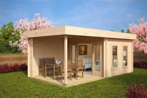 contemporary cabin contemporary garden log cabin with veranda lucas e 9m 178