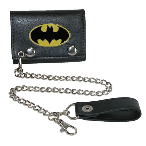 Chain Wallet by Mens Dc Comics Batman Trifold Chain Wallet By Bioworld